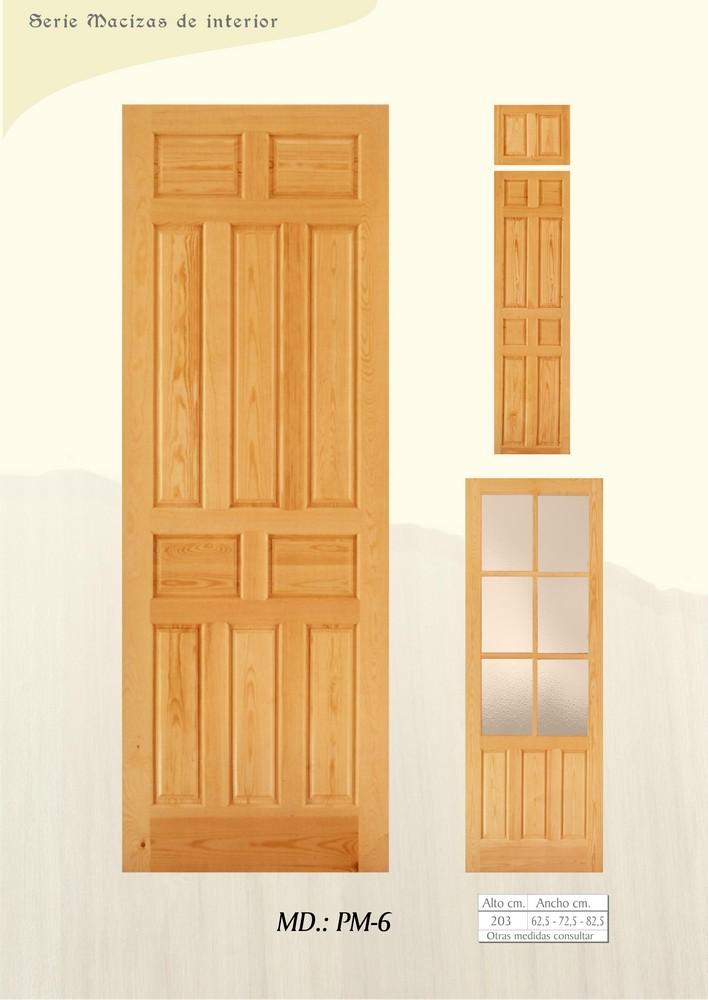 Puertas de interior macizas puertas de madera maciza for Puertas madera maciza interior