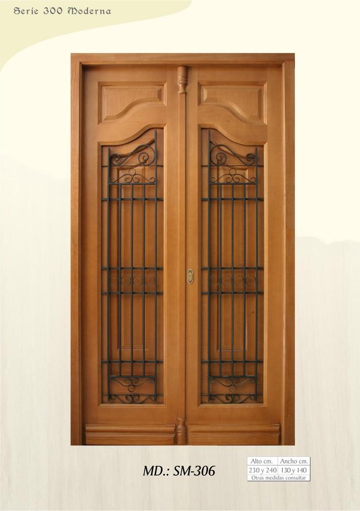 Pin puertas modernas madera frente genuardis portal on for Puertas de frente de madera modernas