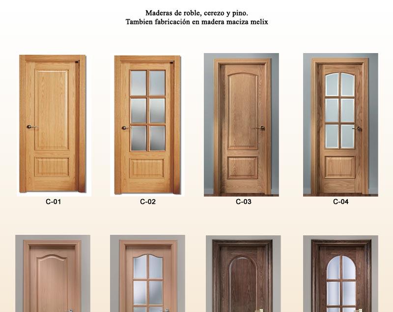 Puertas de interior cl sicas puertas de pino puertas - Puertas de roble ...