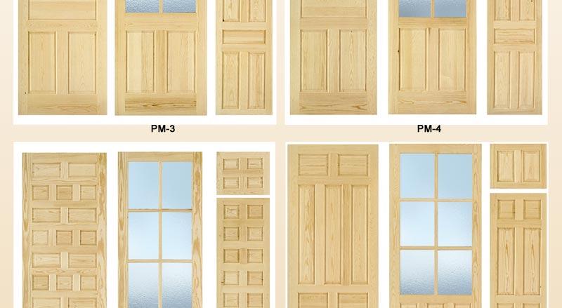 Puertas de interior de pino macizo puertas para interior - Puertas de interior con cristales ...